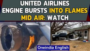 United Airlines flight engine catches fire just after takeoff from Denver - Oneindia