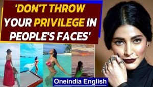 Shruti Hassan slams celebrities holidaying in Maldives