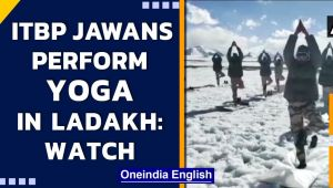 ITBP jawans perform Yoga at an altitude of 18,000 ft in Ladakh| International Yoga Day
