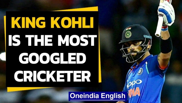 Virat Kohli is the most searched cricketer on Google