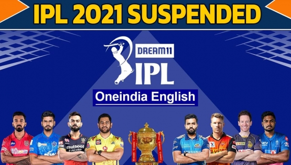 IPL gets suspended after SRH player tests Covid positive