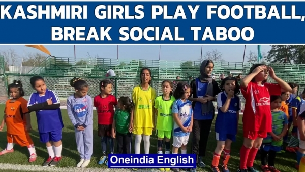 Kashmiri girls break social taboo, come out to play football