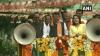 Maha polls: CM Devendra Fadnavis holds roadshow on the last day of poll campaign