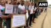 Citizens of Bengaluru stage protest demanding MLA, MP to resign near Marathahalli Bridge