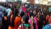 In Pics: Garment factory workers bring traffic to a standstill in Bengaluru