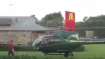 Hungry pilot lands his helicopter at McDonald's to grab some food