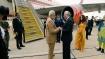 Modi interacts with Indian diaspora before emplaning for Washington