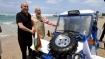 Modi, Nethanyahu watch demo, drive mobile water filtration plant at Dor beach