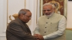 Nitish attends dinner hosted by Modi for President Mukherjee's farewell