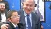 Israel PM Benjamin Netanyahu meets 26/11 survivor Moshe Holtzberg at Nariman House