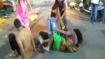 Ujjain: Watch flower vendors clash outside Mahakaleshwar Temple
