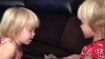 Twin sisters converse in language that they themselves only know