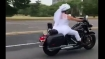 This Harley-mad bride is vrooming to her wedding in her favourite bike