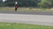 Expert runs bike on one wheel for 1 km at 127mph!