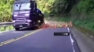 Biker suddenly finds highway ahead filled with these unexpected objects!