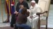 Mute boy climbs on stage of Pope Francis and plays around; leaves pontiff delighted