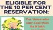 Infographic: The 10 per cent upper caste quota explained
