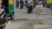 What is the 'holed' up in attending to potholes