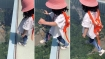 This 3-year-old baby girl walks onto China's terrifying glass bridge 870ft above the ground