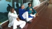 TMC delegation stopped from visiting Sonbhadra, stages dharna at Varanasi airport