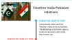 A timeline of India-Pakistan ties since 1947