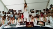 K'taka: Congress leaders stage protest against BSY govt's failure to tackle flood-crisis