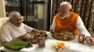 In pics: PM Modi spends his 69th birthday with his mother Heeraben Modi
