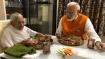 In pics: PM Modi spends his 69th birthday with his mother Heeraben Modi