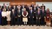 PM Modi meets members of JP Morgan International Council