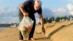 What was the mystery object Modi was carrying while plogging at Mamallapuram beach