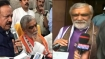 Ink thrown at Union Minister Ashwini Choubey in Patna