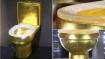 Gold toilet with 40,000 diamonds studded creates social media storm