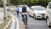 Winter Session: MP's ride bicycles, wear masks, drive e-cars to highlight air pollution