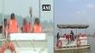 PM Modi rides boat in Ganga at Atal ghat, reviews Namami Gange project