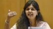 Day after controversy Pankaja Munde posts image of 'lotus' on FB