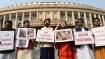WB BJP leaders protest on Parliament premises against rising atrocities against women