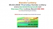 Kerala Lottery Karunya Plus KN-302 today lottery result LIVE, now
