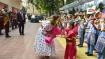 Melania Trump arrives at Delhi govt school, interacts with students