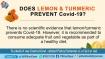 Fake: Lemon and turmeric do not prevent coronavirus