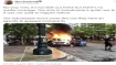 Fake: Image of police car burning is not from Norway