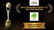 Vibez Estates bags Times Business Award 2020 For Its Sirivana Project at North Bangalore!
