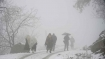 Snowfall in Kashmir for third day