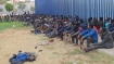 Hundreds of migrants cross into Spanish enclave