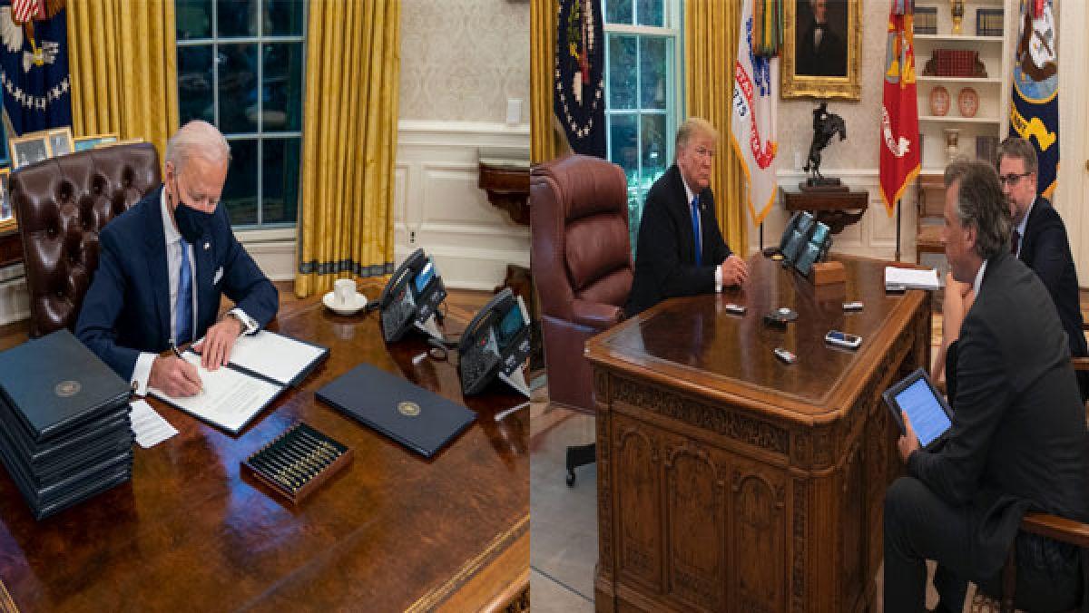 www.oneindia.com: Biden removes Trump's Diet Coke button, decors office with late son's pic