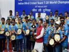 Cash prize for Indian blind cricket team