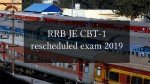 RRB JE CBT-1 rescheduled exam 2019: Important notification released