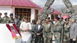 Rajnath Singh pays tributes to martyrs of Kargil War Memorial