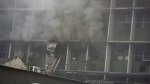 AIIMS fire in pics: Patients panic, relatives get worried, fortunately none injured