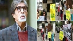 Activists protest outside Big B's bungalow 'Jalsa' over his Metro tweet