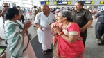WB CM Mamata bump into PM Modi's wife at Kolkata airport, gifts her sari before flying to meet him